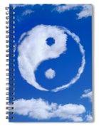 Yin-yang Symbol Made Of Clouds Spiral Notebook