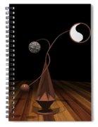 Ying And Yang Spiral Notebook