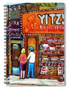 Yitzs Deli Toronto Restaurants Cafe Scenes Paintings Of Toronto Landmark City Scenes Carole Spandau  Spiral Notebook