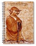 Yoda Wisdom Original Coffee Painting Spiral Notebook