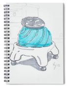 Yoga Ball Cartoon Spiral Notebook