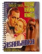 Yorkshire Terrier Art Canvas Print - Casablanca Movie Poster Spiral Notebook