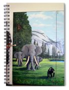Yosemite Dreams Mural On Doors Spiral Notebook