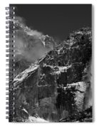 Yosemite Falls In Black And White Spiral Notebook