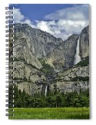 Yosemite Upper And Lower Falls Spiral Notebook
