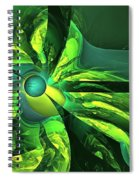 You Are Here --  Events Conspire -- Green Spiral Notebook