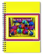 You Are Invited To A Birthday Party Spiral Notebook