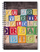 You Are Never Too Old To Dream Big Spiral Notebook