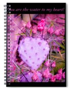 You Are The Water For My Heart 3 Spiral Notebook
