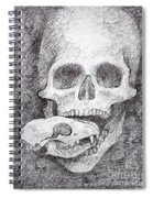 You Are What You Eat Skull Drawing Spiral Notebook