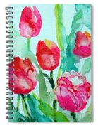 You Enlighten Me- Painting Of Tulips Spiral Notebook