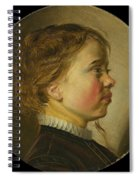 Young Boy In Profile  Spiral Notebook