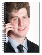 Young Business Man On The Cell Phone Spiral Notebook