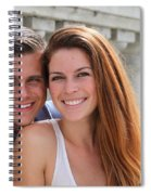 Young Couple Bridge Spiral Notebook