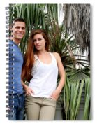 Young Couple Palm Tree Spiral Notebook