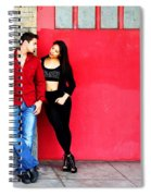 Young Couple Red Doors Spiral Notebook