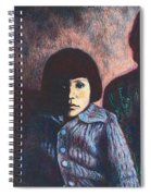 Young Girl In Blue Sweater Spiral Notebook