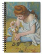 Young Girl Playing With A Doll Spiral Notebook