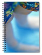 Young Girl Standing In Pool Spiral Notebook