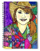 Young Girl With Cowboy Hat Spiral Notebook