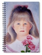 Young Girl With Roses Spiral Notebook