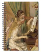 Young Girls At The Piano Spiral Notebook
