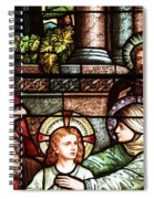 Young Jesus In The Temple Spiral Notebook