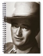 Young John Wayne Painting Traditional Spiral Notebook