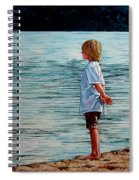 Young Lad By The Shore Spiral Notebook