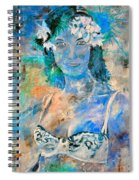young lady in Papeete Spiral Notebook