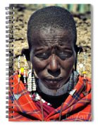 Portrait Of Young Maasai Woman At Ngorongoro Conservation Tanzania Spiral Notebook