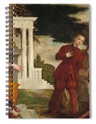 Young Man Between Vice And Virtue Spiral Notebook