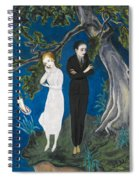 Young Man In Black. Girl In White Spiral Notebook