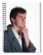 Young Man In Trench Coat Spiral Notebook