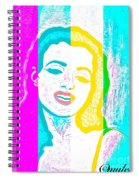 Young Marilyn Soft Pastels Impression Spiral Notebook