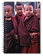 Young Monks II Spiral Notebook