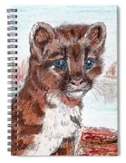 Young Mountain Lion Spiral Notebook