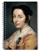 Young Peasant Woman Holding A Wine Flask Spiral Notebook