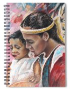 Young Polynesian Mama With Child Spiral Notebook