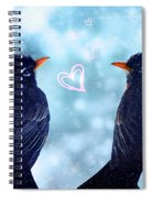 Young Robins In Love Spiral Notebook