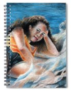 Young Tahitian Mermaid Spiral Notebook