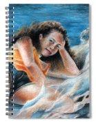 Young Tahitian Mermaid Spiral Notebook
