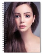 Young Woman Anime Style Beauty Portrait With Beautiful Large Gra Spiral Notebook