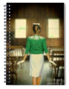 Young Woman Balancing A Book On Her Head Spiral Notebook