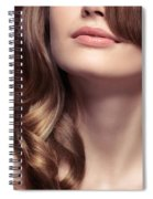 Young Woman Closeup Of Mouth And Neck Spiral Notebook