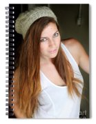Young Woman Hallway Spiral Notebook