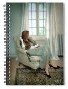 Young Woman In A Chair Spiral Notebook