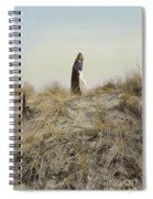 Young Woman In Cloak On A Hill Spiral Notebook