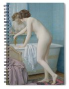 Young Woman Preparing Her Bath  Spiral Notebook