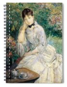 Young Woman Seated On A Sofa Spiral Notebook